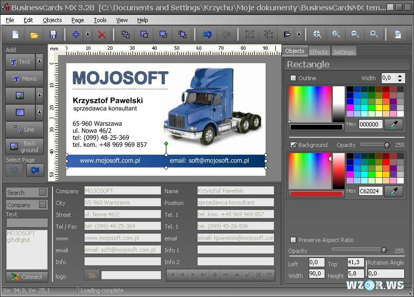 business card software mojosoft image collections card